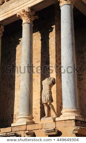 detalle · romana · teatro · edificio · teatro · arquitectura - foto stock © phbcz