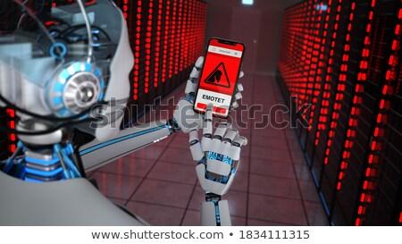 Humanoid Robot Data Center Emotet Detection Stock photo © limbi007