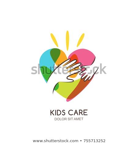 Schenken kinderen zorg vector man Stockfoto © robuart