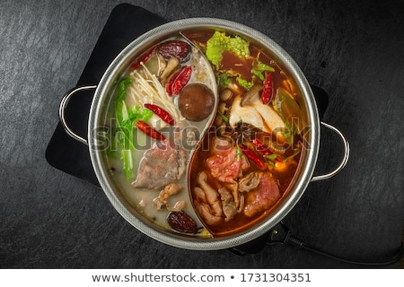 Stew mushrooms with chicken, delicious Chinese traditional food Stock photo © Ansonstock