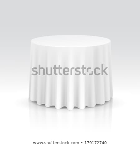 скатерть 3d иллюстрации изолированный белый кухне таблице Сток-фото © montego
