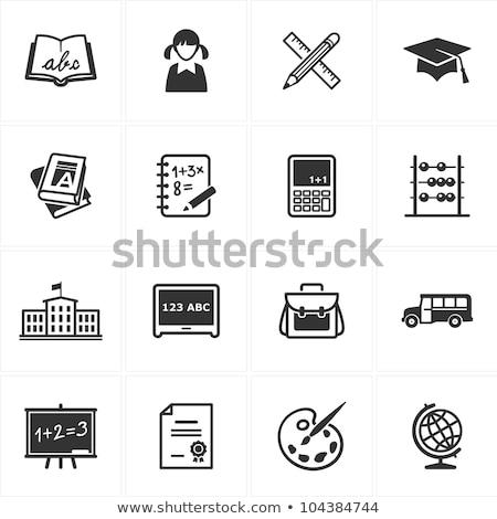 Alfabetik kalem kitap örnek beyaz kâğıt Stok fotoğraf © get4net
