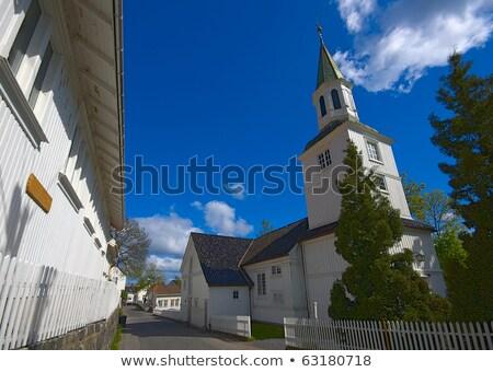 kościoła · fasada · boski · słońce · świetle · świat - zdjęcia stock © phbcz
