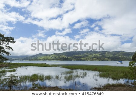 Stock photo: Sunset on Arenal Lake Costa Rica