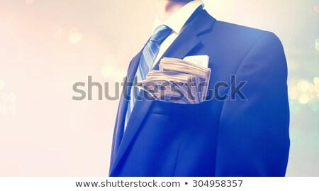 dollár · zseb · üzlet · öltöny · egy · száz - stock fotó © illustrart
