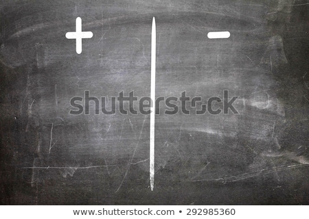 Chalkboard - Negative, Positive Stock photo © kbuntu