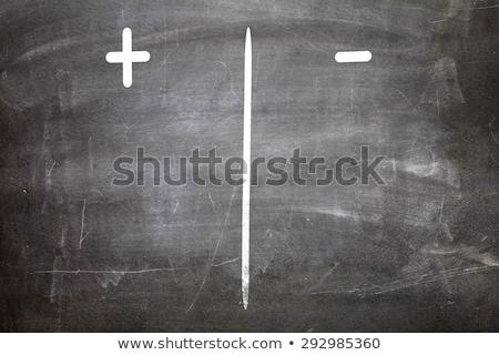 Tablica negatywne pozytywny ciemne ilustracja Zdjęcia stock © kbuntu