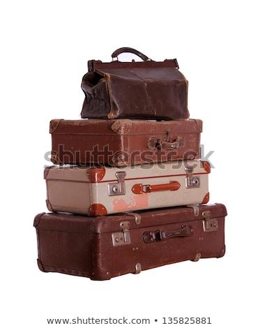 Very Old Suitcase Stock fotó © pterwort