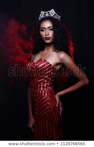 piros · pamut · melltartó · izolált · fehér - stock fotó © ruslanomega