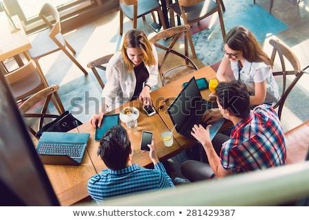 grup · gençler · üst · gülümseme · vücut · model - stok fotoğraf © Paha_L