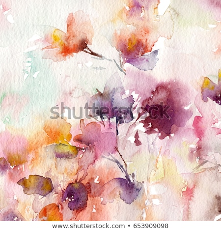 Stock fotó: Autumn Abstract Floral Background