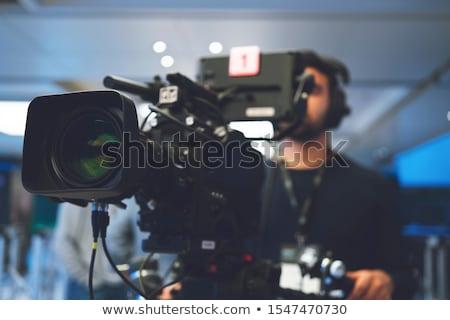 kareraman · sziluett · koncert · színpad · televízió · munka - stock fotó © sahua