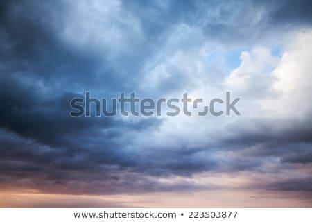 Stockfoto: Stormachtig · hemel · zonneschijn · zon · wolken
