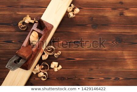 planer on wooden plank Stock photo © prill
