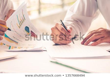 Home groene grafiek dak bouwer verandering Stockfoto © rufous