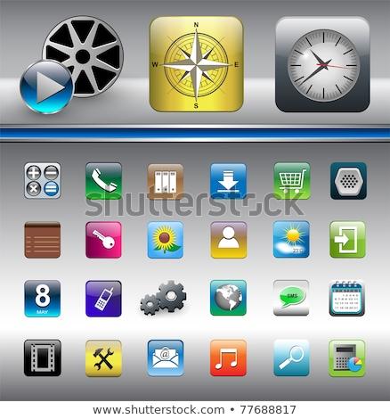 Icône de téléchargement clé Photo stock © 4designersart