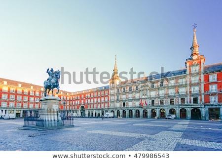 tér · Madrid · Spanyolország · LA · ház · építkezés - stock fotó © lunamarina