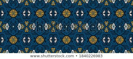 Kimono model arka plan mavi kumaş duvar kağıdı Stok fotoğraf © Galyna
