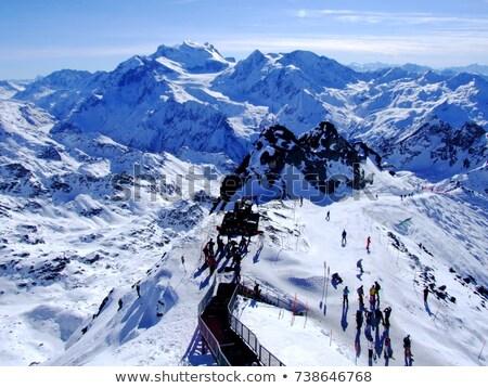 Suíça detalhes esqui recorrer alpes céu Foto stock © vladacanon