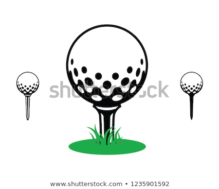 Stock photo: closeup golf ball and tee