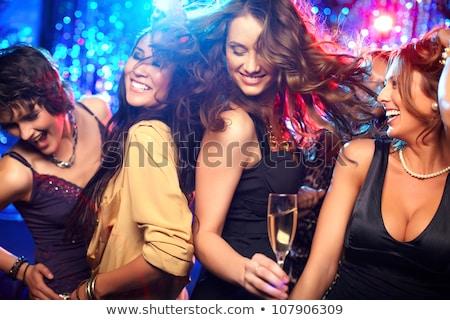Clubbing meisje schoonheid jonge vrouw portret glas Stockfoto © olira
