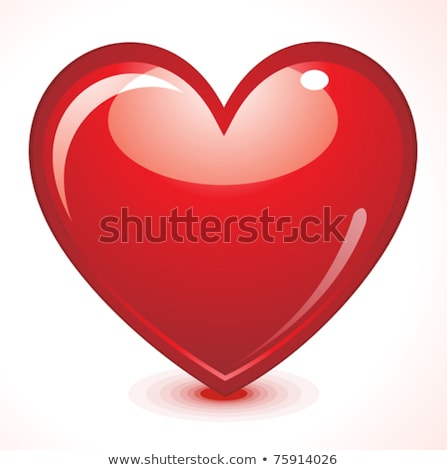 abstract glossy heart Stock photo © pathakdesigner