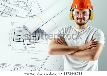 adult male drawing business enviroment sketch stock photo © dotshock