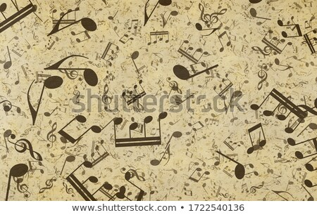 music notes on old paper Stock photo © clearviewstock