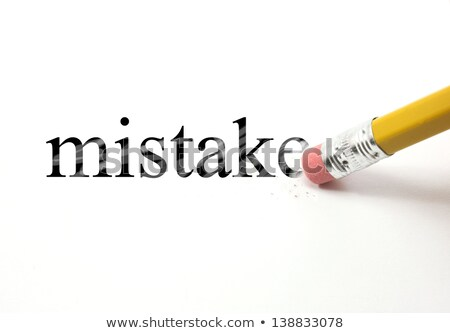 eraser and word mistakes Stock photo © devon