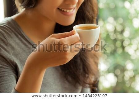 美人 · エスプレッソ · コーヒー · 白 · 表 · 肖像 - ストックフォト © Rob_Stark