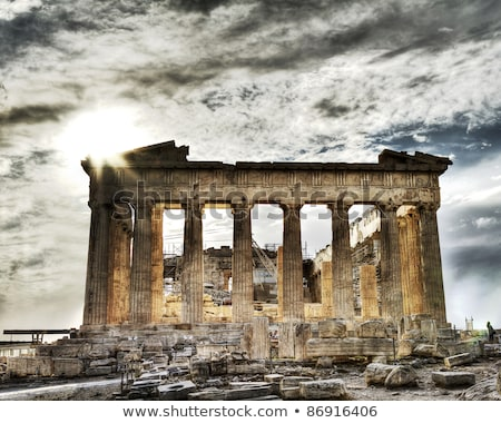 ancient ruins of the acropolis stock photo © kacpura