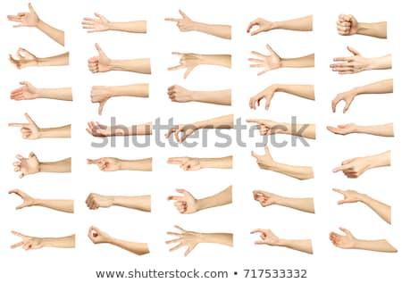 Kéz mér fehér kettő izolált kezek Stock fotó © simply