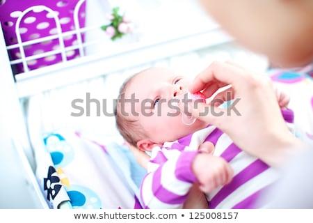 Kadın emzik bebek anne genç stüdyo Stok fotoğraf © photography33