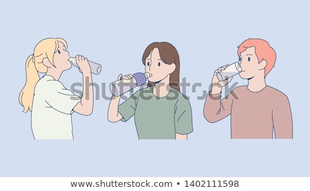 bust shot of man drinking glass of water Stock photo © photography33