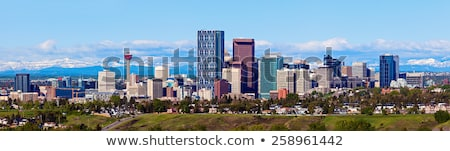 calgary · Skyline · gratte-ciel · argent · construction · rue - photo stock © jewhyte