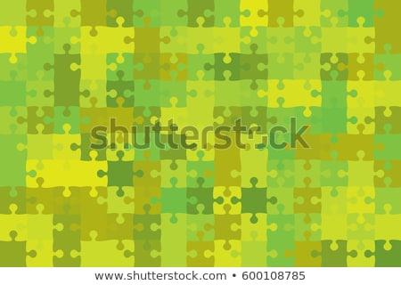 puzzle · squadra · immagine · lavoro · blu · gruppo - foto d'archivio © orson