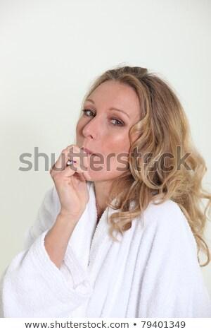 Stockfoto: Vrouw · dressing · toga · klein