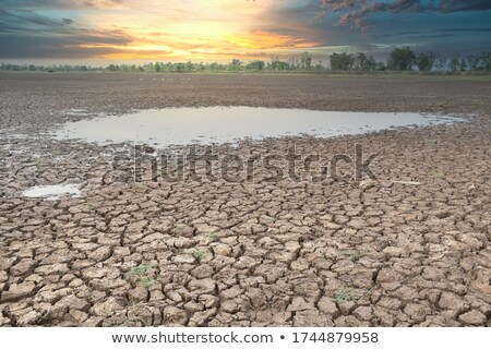 Foto stock: Dry Land And Water