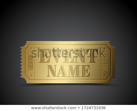 Stock photo: Vector ticket as a template for your event