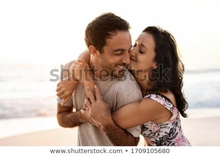 Szeretetteljes pár baba szeretet otthon gyerek Stock fotó © photography33