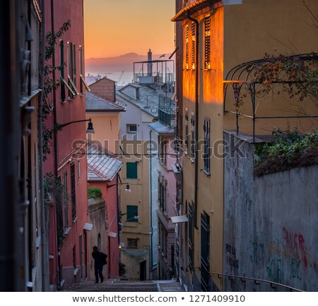 Genova, the old town panorama Stock photo © Antonio-S