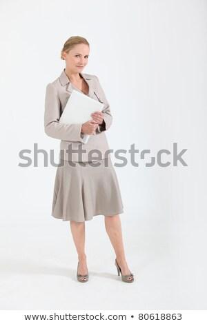 vrouw · business · laptop · achtergrond · veiligheid · zakenman - stockfoto © photography33