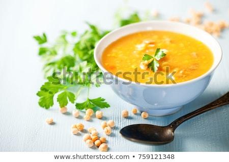 Speck Essen Suppe Schüssel Ernährung Stock foto © M-studio