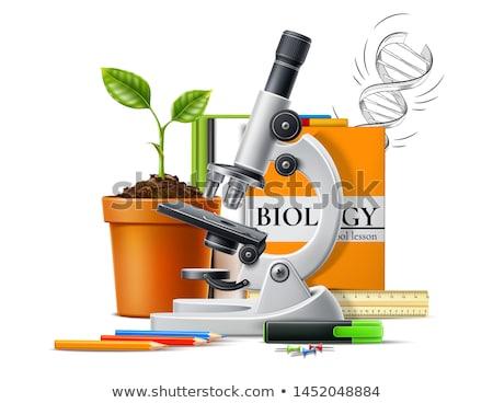 öğrenmek · biyoloji · okul · mutlu · çocuklar · grup - stok fotoğraf © kbuntu
