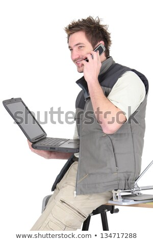 tiles drumming up business over the phone stock photo © photography33