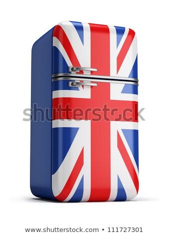 brit · zászló · Egyesült · Királyság · zászló · háromdimenziós · render · szatén - stock fotó © anatolym