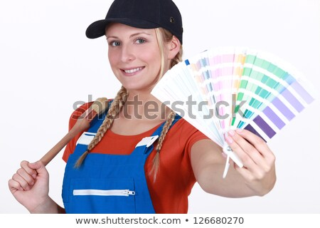 craftswoman painter holding a color chart stock photo © photography33