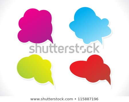 colorido · discurso · globos · Cartoon · red - foto stock © pathakdesigner