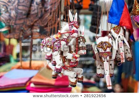 Marionet speelgoed Cambodja angkor meisje gelukkig Stockfoto © bbbar