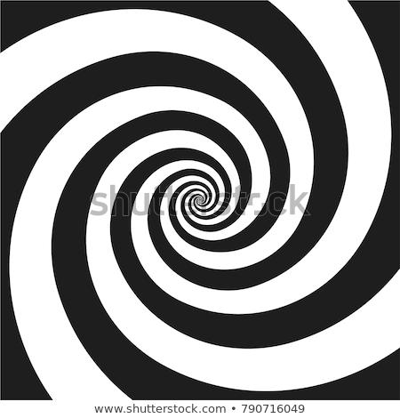 Hypnotiser spirale résumé noir blanche signal Photo stock © HectorSnchz